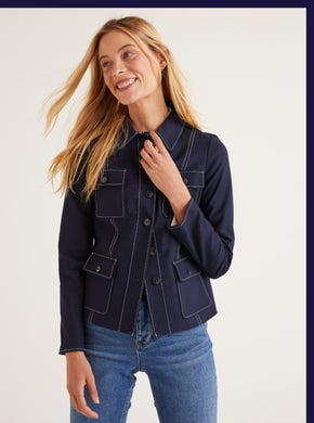 Wheatley Topstitch Jacket