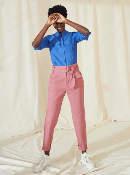 Shop tie-waist pants