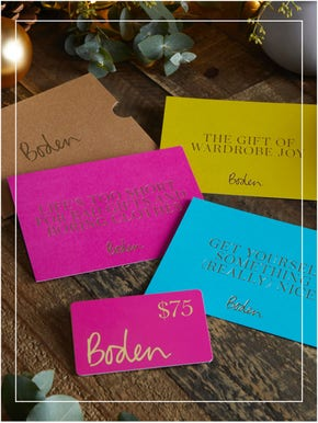 Boden gift cards