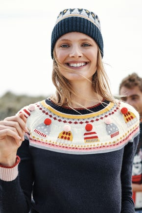 Our Hat Fair Isle Jumper part of our Festive Edit