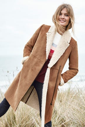 Shop the Faux Shearling Coat