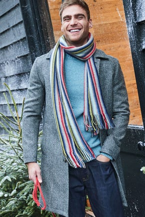 Shop the Cashmere Stripe Scarf