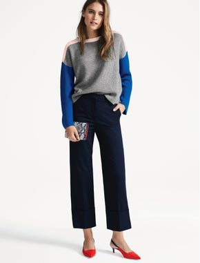 The colorblock jumper