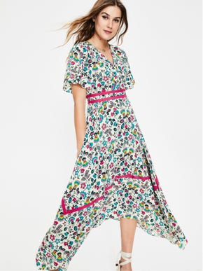 Holly Hanky Hem Midi Dress.